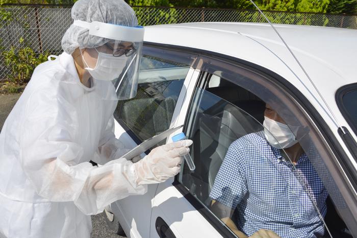 検体採取の手順確認 20日開設の名張市PCR検査センター